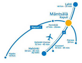 The location of Mäntsälä